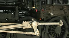 The gears of a steam locomotive. Stock Footage