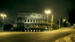 timelapse colosseo,coliseum,colosseum - stock footage