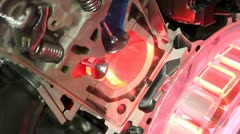 Car valves and pistons work detail Stock Footage
