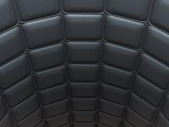 Black leather pattern arch shape with rectangles Stock Illustration
