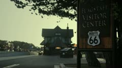 Stock Video Footage of Flagstaff Visitor Center Depot Route 66
