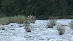 A group of rafters on their water rafts. Stock Footage