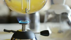 Coffeepot over the butane burner Stock Footage