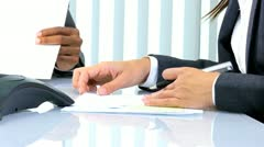 Hands Multi Ethnic Business Females Stock Footage