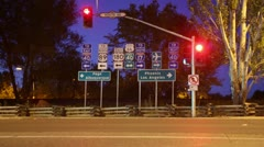 Time-lapse on Historic Route 66 with traffic signs. Stock Footage
