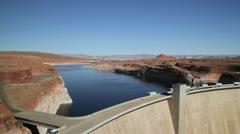 Colorado River at Glen Canyon Dam - stock footage