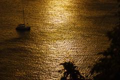 Sunset on the andaman sea, phuket viewpoint Stock Photos