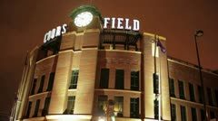 Coors Field Wide Stock Footage