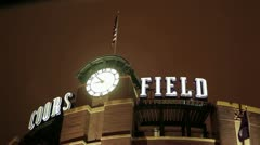 Coors Field Tele Stock Footage
