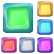 Icons buttons, set Stock Illustration