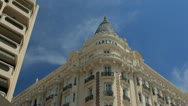 Carlton hotel in Cannes. Stock Footage