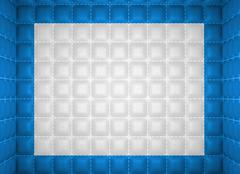 Soft room concept. blue and white stitched leather pattern Stock Illustration