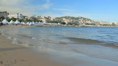 Coast in Cannes. Stock Footage