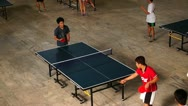 Stock Video Footage of Table Tennis Player