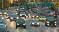 Time Lapse of Heavy Traffic at Sunset - stock footage