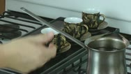 Coffee being served. Stock Footage