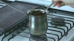 Coffee Making Preparation Process Stock Footage