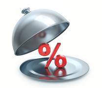 hot discount - stock illustration