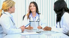 Medical Executives Boardroom Planning Meeting Stock Footage