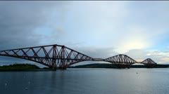Forth rail bridge Stock Footage