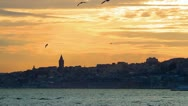 Stock Video Footage of Sunset in Istanbul