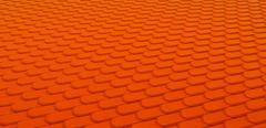 Orange leather stitched background with scales texture Stock Illustration