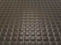 Black alligator skin with stitched rectangles Stock Photos