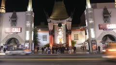 Chinese Theater Hollywood California- Time Lapse Stock Footage