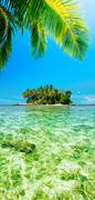 Tropical island. panoramic vertical composition. Stock Photos