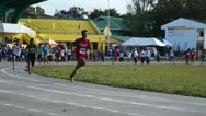 Stock Video Footage of Sprint Running Competition male