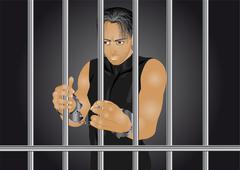 prisoner - stock illustration