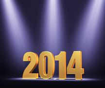 Stock Illustration of presenting the new year, 2014