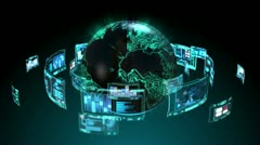 Global Technology 1 Stock Footage