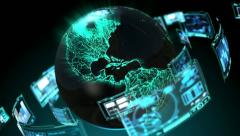 Global Technology 2 - stock footage