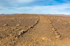 Iceland dirt road Stock Photos