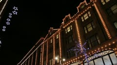 Harrods Christmas Lights 2012 Stock Footage