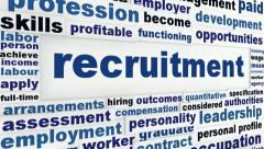 Stock Video Footage of Recruitment creative words message