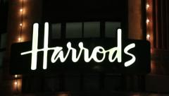 Stock Video Footage of Harrods Xmas Lights 2012