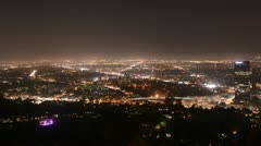 Time Lapse of the San Fernando Valley at Night - Los Angeles Stock Footage