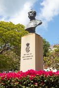 Bust of king christian ix in charlotte amalie Stock Photos