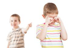 children in conflict quarrel - stock photo