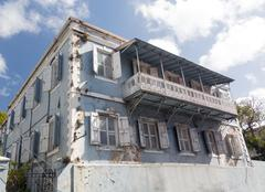 Old house in charlotte amalie st thomas Stock Photos