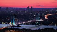 Stock Video Footage of Zoom in to Bosporus Bridge
