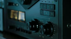 wiretap recording tilt up - stock footage