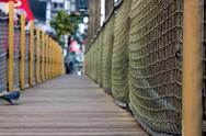 Sidewalk in the strip in las vegas - pirate / dock themed sidewalk Stock Photos