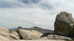 Timelapse of California Desert Mojave Preserve Daytime - stock footage