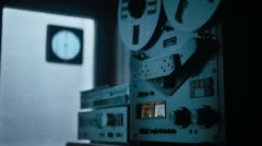 espionage tape recorder - stock footage