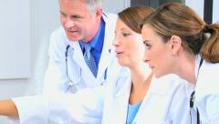 Medical Staff Checking Clinical Trial Results Stock Footage