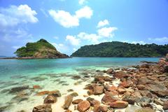 Travel beach in thailand Stock Photos