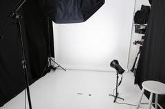 photographic studio - stock photo
